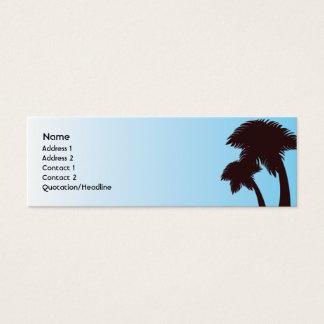 Mini Carte De Visite Palmiers - maigres
