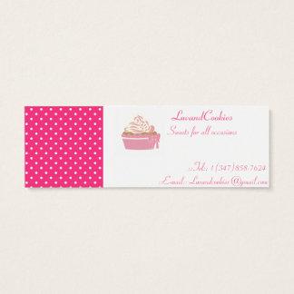 Mini Carte De Visite Petits gâteaux à pois roses