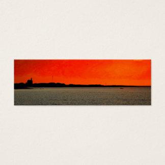 Mini Carte De Visite Phare du nord d'Île de Block à la peinture de