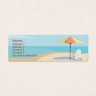 Mini Carte De Visite Plage - maigre