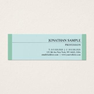 Mini Carte De Visite Plaine élégante fascinante de vert bleu de
