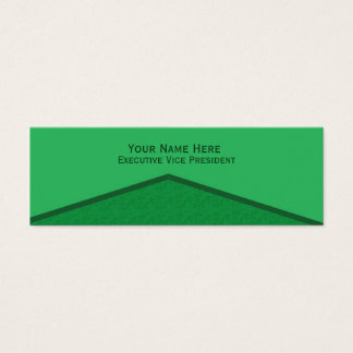 Mini Carte De Visite Point central vert clair