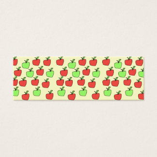 Mini Carte De Visite Pommes rouges et pommes vertes, motif, sur la