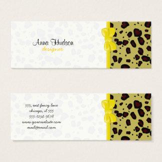 Mini Carte De Visite Poster de animal, guépard repéré - jaune noir