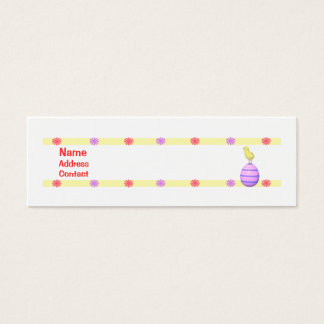 Mini Carte De Visite Poussin de Pâques - maigre