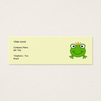 Mini Carte De Visite Prince de grenouille. Grenouille de sourire avec