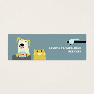 Mini Carte De Visite Professionnel de soin des animaux familiers