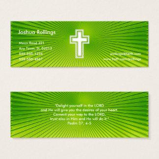 Mini Carte De Visite Psaume 37 ; 4-5 - Chrétien