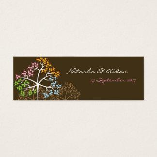 Mini Carte De Visite Quatre arbres de saisons sur le Merci de