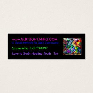 Mini Carte De Visite rainbowlight, www.GLBTLIGHT.NING.COM, un social…