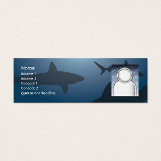 Mini Carte De Visite Requin - maigre