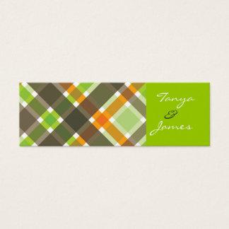Mini Carte De Visite Rétro étiquette verte orange/faveur de cadeau de