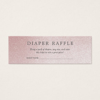Mini Carte De Visite Scintillement de rose de la tombola | Ombre de