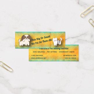 Mini Carte De Visite Service de garde d'enfants d'animal familier de