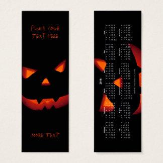 Mini Carte De Visite Signet 2018 du citrouille 001 de Halloween