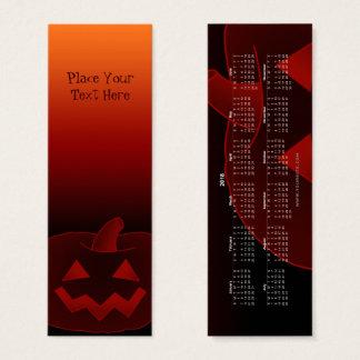 Mini Carte De Visite Signet 2018 du citrouille 002 de Halloween