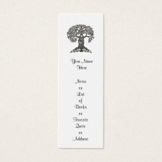 Mini Carte De Visite Signet d'arbre de lecture mini à customiser