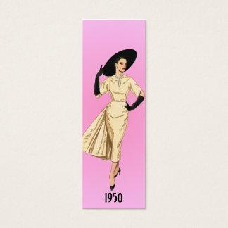 Mini Carte De Visite Signet de 1950 modes