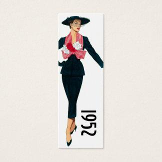 Mini Carte De Visite Signet de 1952 modes