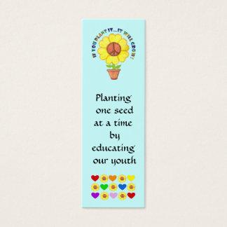Mini Carte De Visite Signet de paix