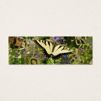 Mini Carte De Visite Signet d'imagination de papillon