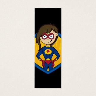 Mini Carte De Visite Signet mignon de fille de super héros