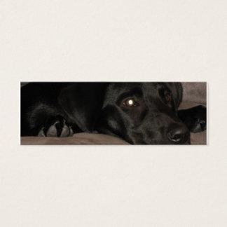 Mini Carte De Visite Signet noir de labrador retriever