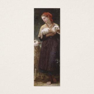 Mini Carte De Visite Signet nouveau-né d'agneau par William Bouguereau