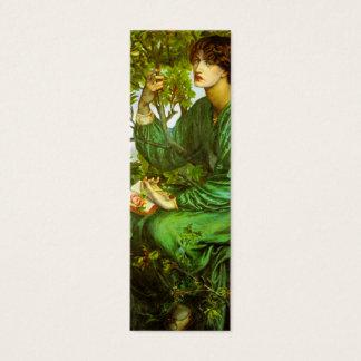 Mini Carte De Visite Signet rêveur de jour par Dante Gabriel Rossetti