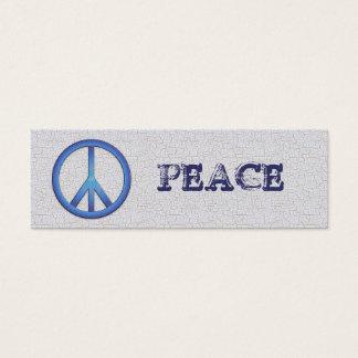 Mini Carte De Visite Signets bleus de paix
