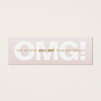 Mini Carte De Visite Spa rose de salon de bon de fidélité de remise de