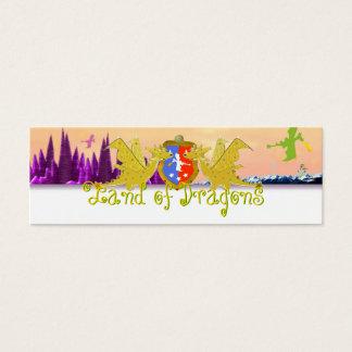 Mini Carte De Visite Terre de l'étiquette nommée Emma de dragons pour