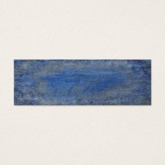 Mini Carte De Visite Texture bleue profonde d'écorce