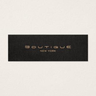 Mini Carte De Visite Toile élégante de noir de Faux de concepteur de