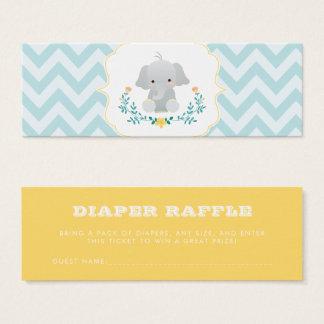 Mini Carte De Visite Tombola de couche-culotte de baby shower de