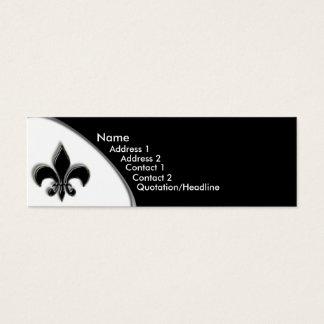 Mini Carte De Visite Ton de KRW Black Fleur De Lis deux
