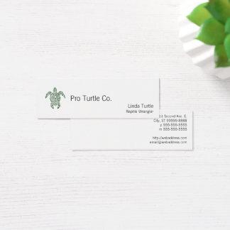 Mini Carte De Visite Tortue tribale de style d'impression typographique