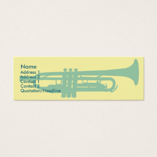 Mini Carte De Visite Trompette - maigre