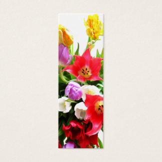 Mini Carte De Visite Tulipes romantiques