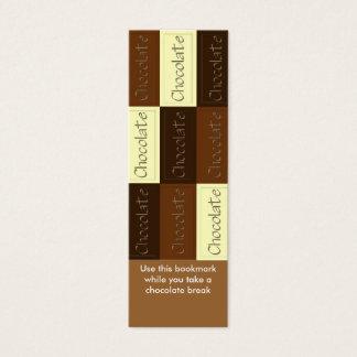 Mini Carte De Visite Un bon nombre de signet de chocolat