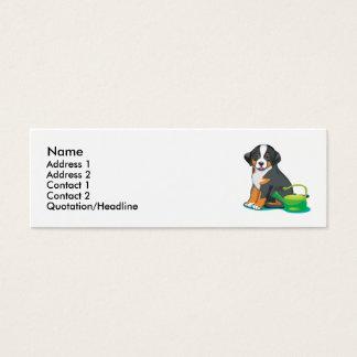 Mini Carte De Visite Un plus grand chiot suisse de chien de montagne