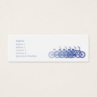 Mini Carte De Visite Vélo bleu - maigre