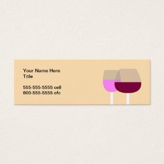 Mini Carte De Visite Verres de vin