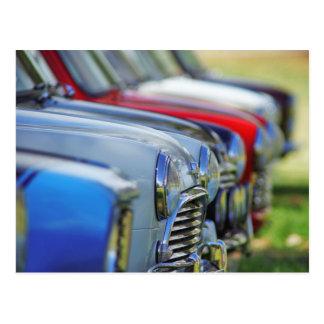Mini carte postale vintage d'automobile de