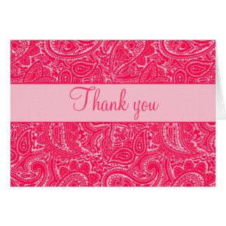 Mini cartes de note roses de Paisley