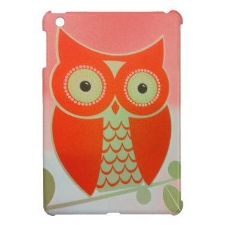 Mini cas de HIBOU d'iPad brillant intuitif ORANGE Coque Pour iPad Mini