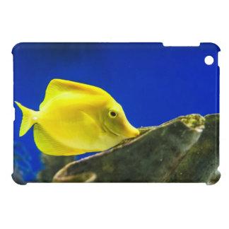 Mini cas de Tang d'iPad jaune de poissons de mer Coque iPad Mini