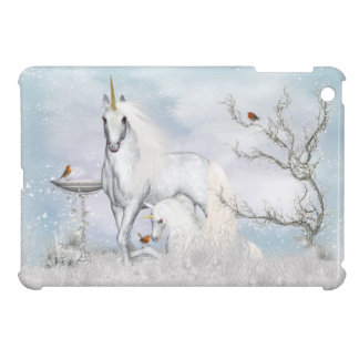 mini cas d'iPad avec des licornes d'hiver d'imagin Coque Pour iPad Mini