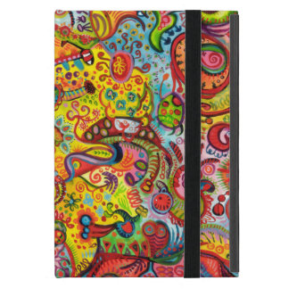 Mini cas d'iPad psychédélique coloré avec Étuis iPad Mini
