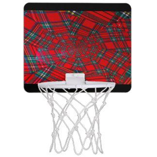 mini cercle de basket-ball coloré par écossais de mini-panier de basket